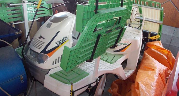 売却されたヤンマーの田植機VP40