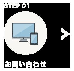 STEP 01 お問い合わせ